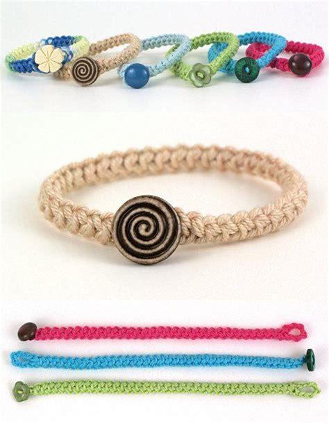 Crochet Pretty Bracelets With Patterns Braided Bracelets