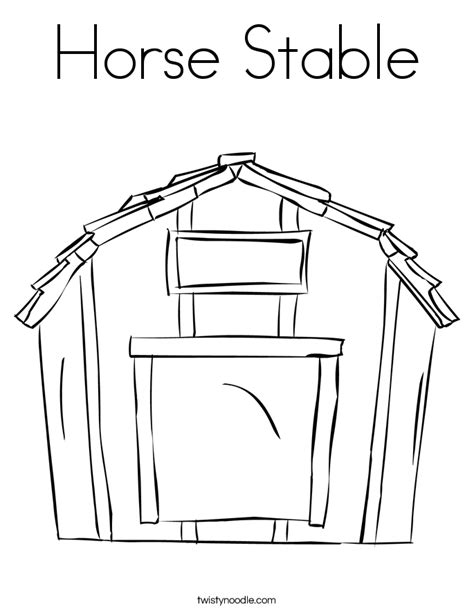 horse barn coloring page horse stable coloring page twisty noodle