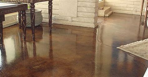Distressed Concrete Floors - distressed stained concrete can t wait to do this is a
