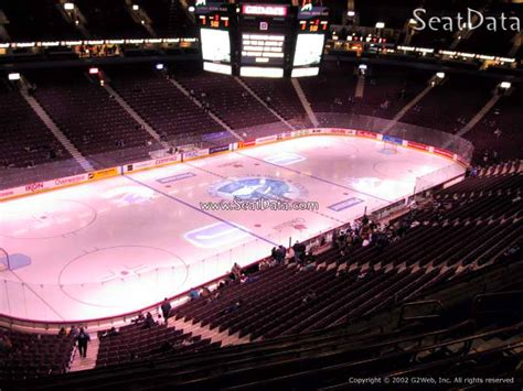 Club Section Rogers Arena by Rogers Arena Section 326 Vancouver Canucks