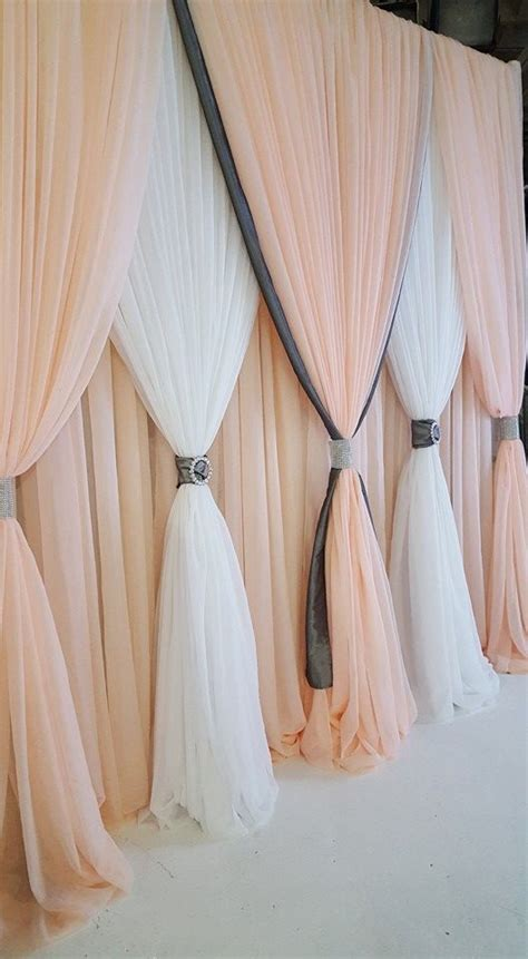 wedding backdrop curtains this is blush sheer is one of the new colors available at