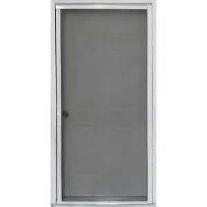 screen doors home depot 36 in x 80 in pr900 white retractable screen door
