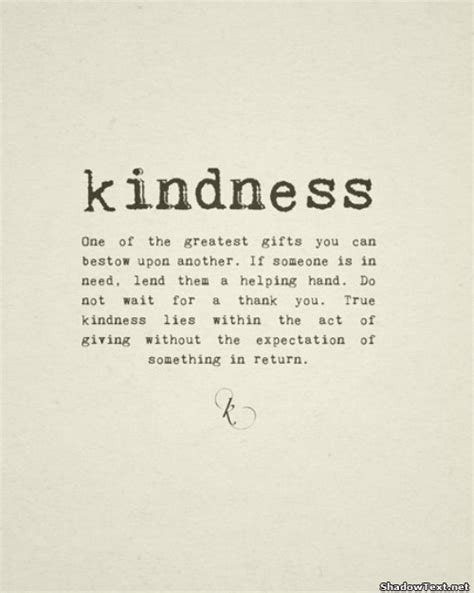Thank You Letter Kindness Simple Acts Of Kindness Quotes Quotesgram
