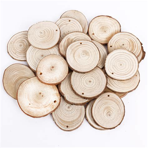 Etiketten Rund Mit Loch by 25er Rund Holz Papieranh 228 Nger Tags Labels Zum