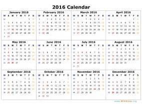Conflict Calendar Template by 2016 Calendar