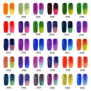color changing gel nail glimmer glitz temperature chameleon mood changing colors