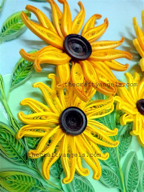 quilling sunflower tutorial quilling technique tutorial how to make quilled flower