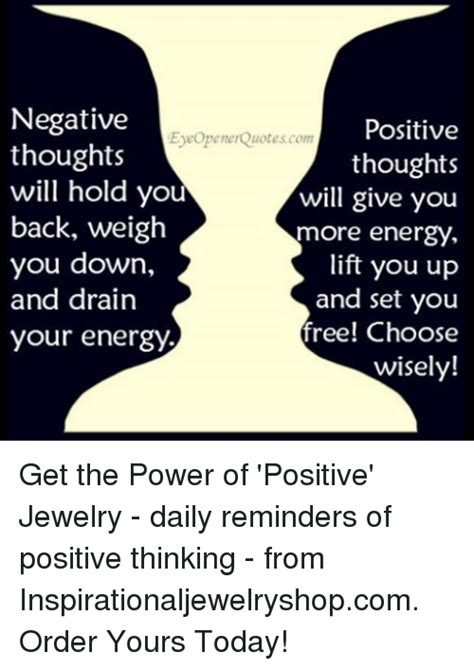 Positive Thinking Meme - negative positive eyeopenerquotes com thoughts thoughts