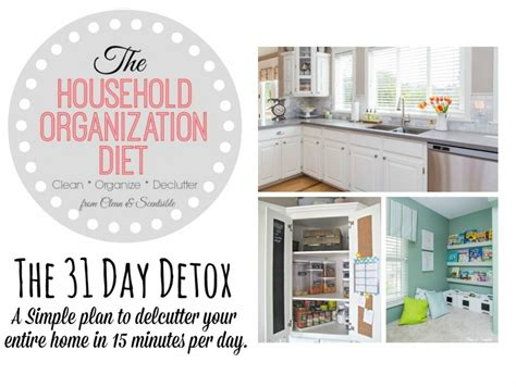 31 Day Detox Diet by The Household Organization Diet 31 Day Detox 2015