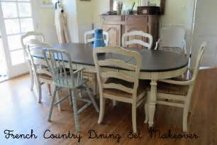 French Country Dinette Sets - french country glazed creamy painted dining set mini tutorial