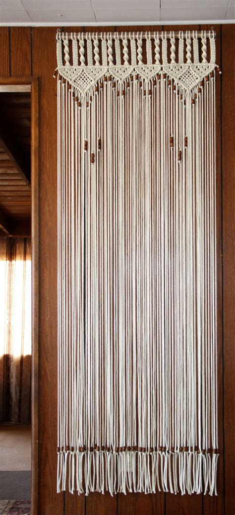 bead door curtain bead fringed door curtain macrame for a door by craftflaire