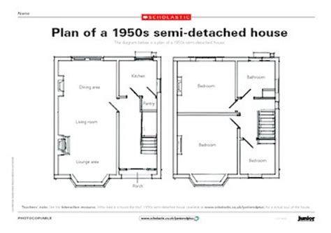 1950s semi detached house design plan of a 1950s semi detached house free primary ks2 teaching resource scholastic