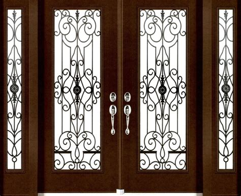 Stained Glass Door Inserts stained glass door inserts and wrought iron door inserts