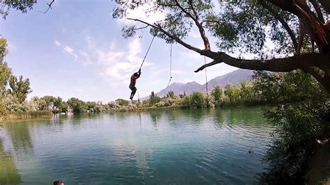 rope swings in utah burraston ponds utah rope swings youtube