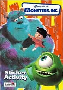 monsters inc books monsters inc sticker book disney walt