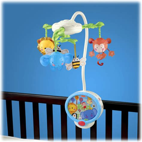 light up baby mobile object moved