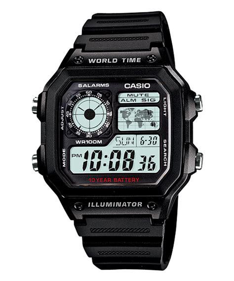 Casio Original W S200h 1a jam tangan casio dengan fitur illuminator jam casio