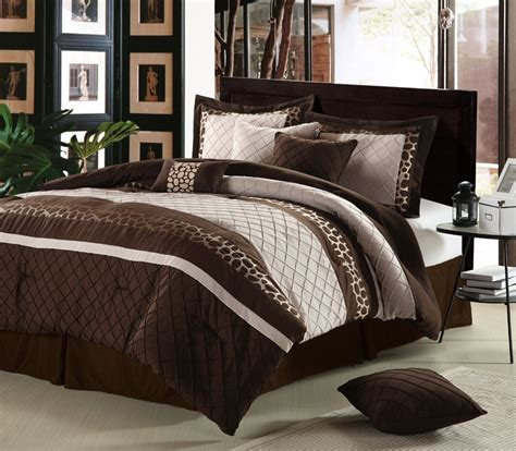 brown bedding sets lacozee leopard oversized comforter set in brown size king lz che brn kn