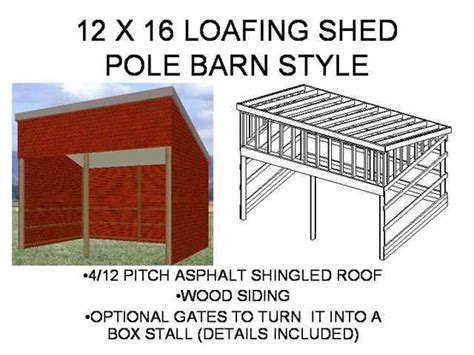 12 x 16 loafing shed barn free house plan reviews