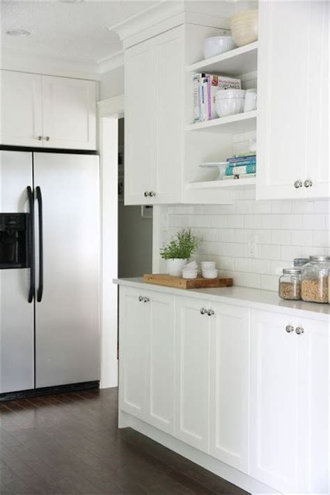 The lower cabinets are the same depth as the upper