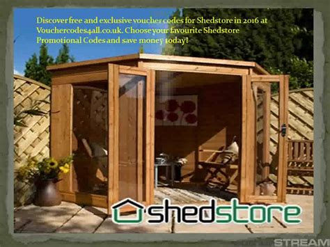 Shed Stores by Shedstore Vouchers On Vimeo