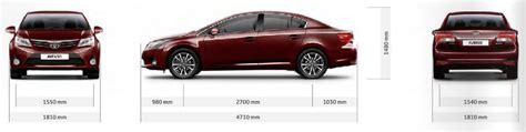 Dimensions 2 Car Garage 2015 toyota avensis uk dimensions guide carwow