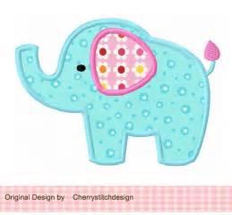 elephant 04 applique 4x4 5x7 6x10 machine embroidery