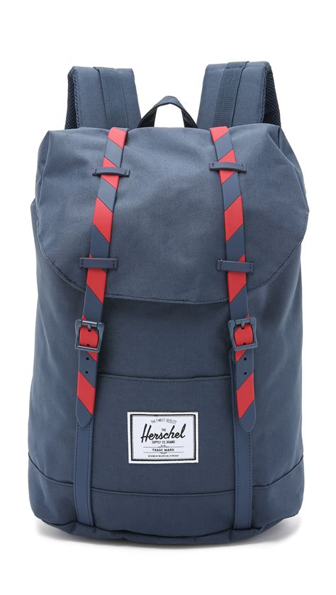 Arsenal Blue Stripe Backpack lyst herschel supply co retreat backpack navy