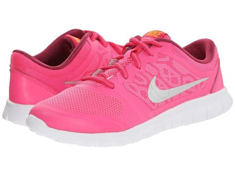 bright pink sneakers nike flex 2015 sneakers pink pow metallic silver bright