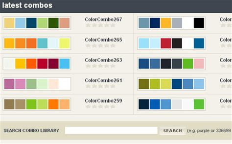 Website Colour Combinations | colorcombinations 50 best free tools to create perfect