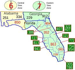 area codes in florida map area code 561