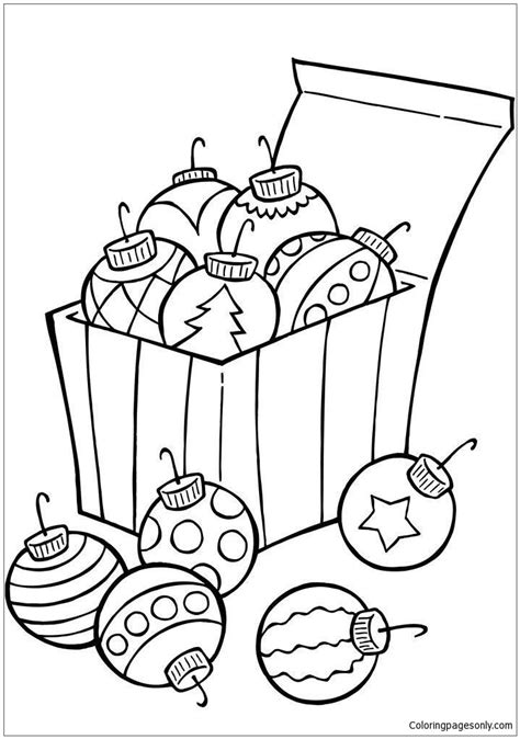 christmas ornament tree to color ornaments for tree coloring page free coloring pages