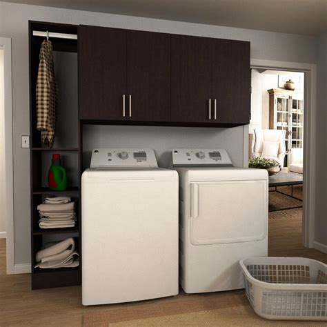 home laundry room cabinets modifi 60 in w white laundry cabinet kit enl60a