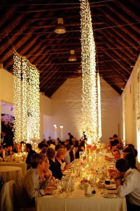 wedding lights cascading lights  pretty
