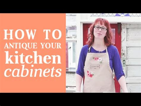 How To Give Your Kitchen Cabinets A Facelift How To Give Your Kitchen Cabinets An Antique Look Glazing Kitchen Cabinets With Country Chic
