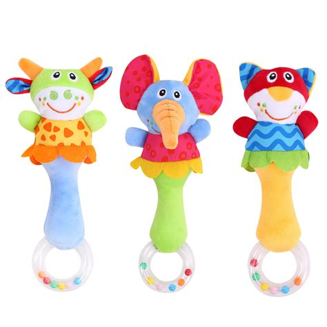 Baby Rattle Toys Animal by מוצר Baby Rattle Toys Animal Bells Plush Baby