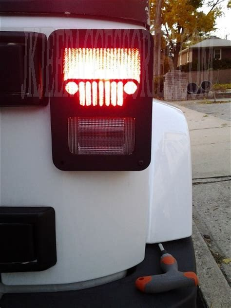 jeep grille jeep wrangler jk tail light guard