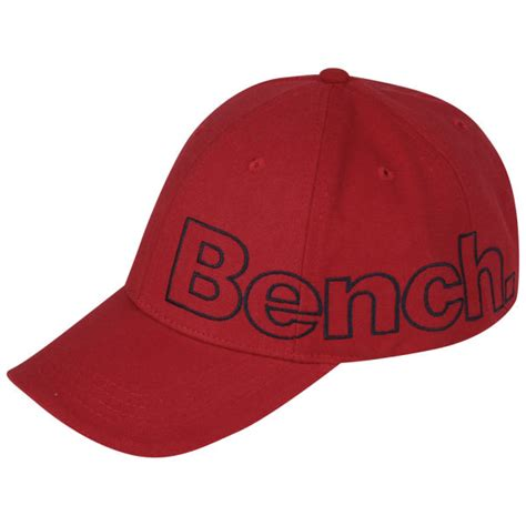 cap bench bench men s groomsbridge cap red clothing zavvi com