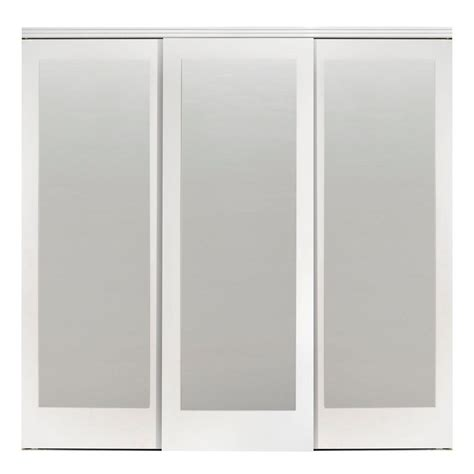 Impact Plus Closet Doors Impact Plus 90 In X 80 In Mir Mel Primed Mirror Solid Mdf Interior Closet Sliding Door