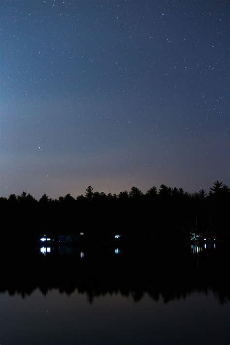 silhouette  mountain range  stars  stock photo