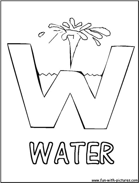 letter w coloring pages preschool w is for water picture alphabets w coloring page water