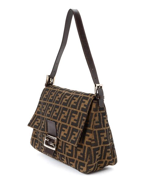 Fendi Mamma Shoulder Bag by Fendi Mamma Baguette Shoulder Bag Vintage In Brown Lyst
