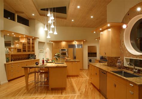 kitchen lighting sloped ceiling