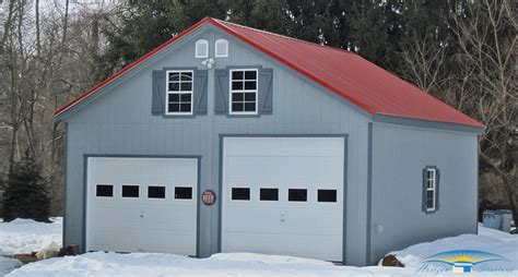 2 car garage 2 story prefab garage horizon structures