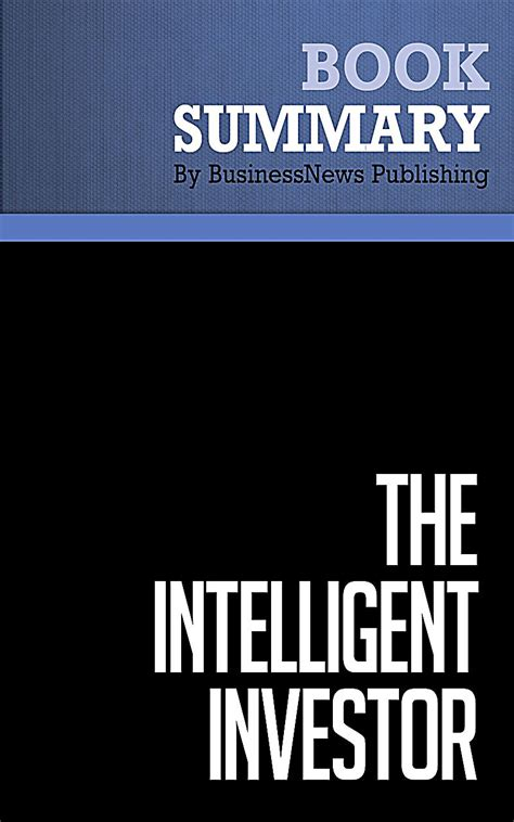 The Intelligent Investor Benjamin Graham summary the intelligent investor benjamin graham ebook weltbild de