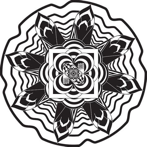 mandalas flowers  vector graphic  pixabay
