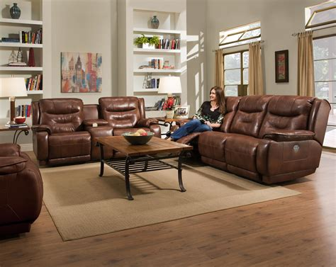 southern motion sofa with power headrest southern motion crescent reclining sofa with power