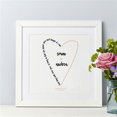 Wedding Song Words by Wedding Personalised Song Words And Lyrics Print By Spotty