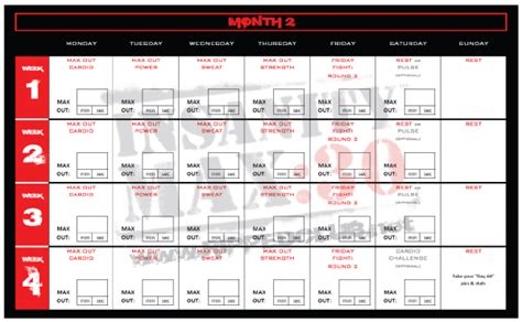 printable version of insanity workout calendar insanity max 30 workout schedule new calendar template site