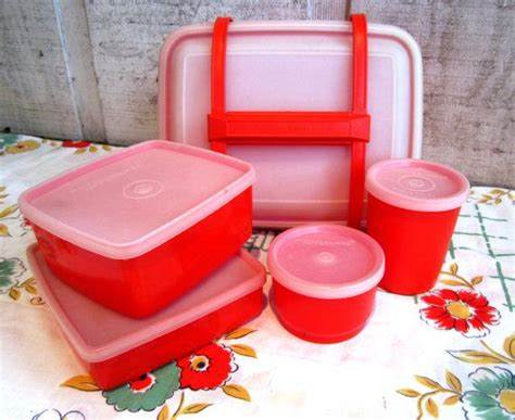 Tupperware My Pony Lunch Set compelete 11 tupperware lunch box set orange sandwhich snack juice fruit cup